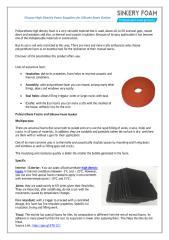Choose High Density Foam Suppliers for Silicone foam Gasket.pdf