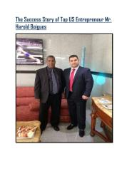 The Success Story of Top US Entrepreneur Mr. Harold Boigues.pdf