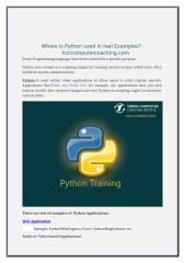 Where is Python used TCCI.doc