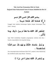 Teks Arab Dan Terjemahan Hizb An Nashr.doc