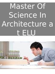 Master Of Science In Architectureat ELU ppt.pptx