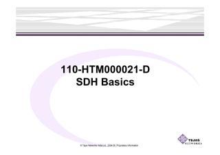 110-HTM000021-D SDH Basics(Modified).pdf