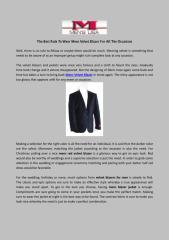 The Best Rule To Wear Mens Velvet Blazer For All The Occasions.pdf