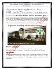 Sugarcane Breeding Institute Recruitment.pdf
