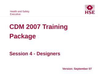 HSE CDM 07 04 Designer.PPT