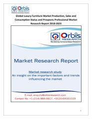 Global Luxury Furniture Market Production, Sales and Consumption Status and Prospects Professional Market Research Report 2018-2023.pdf