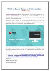 Tririd-software Company in Ahmedabad - trirird.com.doc