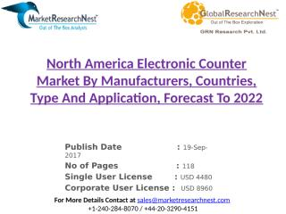 North America Electronic Counter Market By Manufacturers, Countries, Type And Application, Forecast To 2022.pptx