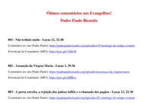 Excelentes comentários aos Evangelhos - Atualização 02.pdf
