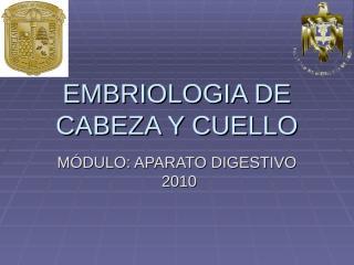 embriologia de cabeza y cuello.ppt
