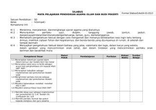 Silabus PAI SD Kurikulum 2013 Kelas 4 (1).docx