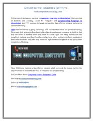 MISSION OF TCCI COMPUTER INSTITUTE - tccicomputercoaching.com.doc