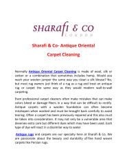 Sharafi & Co- Antique Oriental Carpet Cleaning.pdf