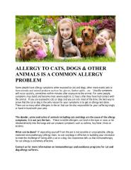 ALLERGY TO CATS, DOGS & OTHER ANIMALS IS A COMMON ALLERGY PROBLEM.pdf