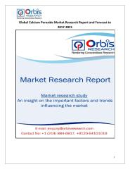 Global Calcium Peroxide Market Research Report and Forecast to 2017-2021.pdf