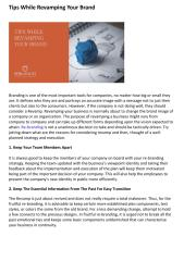 Tips While Revamping Your Brand.pdf