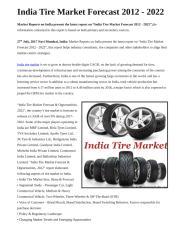 India Tire Market Forecast 2012 - 2022.docx