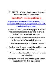 UOP_ETH_321_Week_1_Assignment_Role_and_Functions_of_Law_Paper_NEW(2).PDF