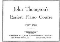 John Thompson easiest piano course pdf
